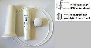 Water filter system with Aqualen® K-07
